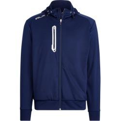Ralph Lauren Tech Jersey Full-Zip Hoodie in Navy - Size XL found on Bargain Bro from Ralph Lauren for USD $150.48