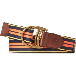 Ralph Lauren Equestrian Grosgrain Belt in Frch Nvy/Yllw/Gold/Orange - Size XL found on Bargain Bro Philippines from Ralph Lauren for $85.00