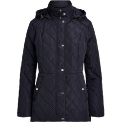 Ralph Lauren Quilted Hooded Jacket in Navy - Size S