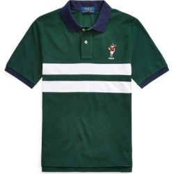 Ralph Lauren Polo Bear Cotton Mesh Polo Shirt in College Green - Size S found on Bargain Bro from Ralph Lauren for USD $25.07