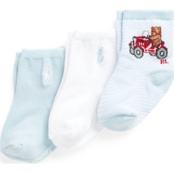 Ralph Lauren Polo Bear Crew Sock 3-Pack in Light Blue - Size 6-12M found on Bargain Bro India from Ralph Lauren for $7.99
