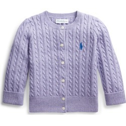 Ralph Lauren Cable-Knit Cotton Cardigan in Wisteria Heather - Size 3M found on Bargain Bro India from Ralph Lauren for $17.99