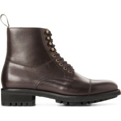 Ralph Lauren Bryson Cap-Toe Leather Boot in Dark Brown - Size 10 found on Bargain Bro from Ralph Lauren for USD $171.00