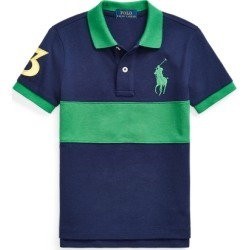 Ralph Lauren Big Pony Cotton Mesh Polo Shirt in Cruise Navy Multi - Size 3T found on Bargain Bro from Ralph Lauren for USD $22.79