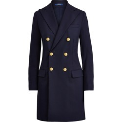 Ralph Lauren Double-Breasted Wool Blazer in Collection Navy