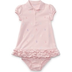 Ralph Lauren Ruffled Polo Dress & Bloomer in Light Pink - Size 3M found on Bargain Bro from Ralph Lauren for USD $30.02