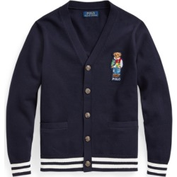 Ralph Lauren Polo Bear Cotton Cardigan in RL Navy - Size L found on Bargain Bro from Ralph Lauren for USD $56.23