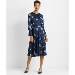 Club Monaco Blue Multi Floral Belted Midi Dress in Size 00 found on Bargain Bro India from Club Monaco for $131.99