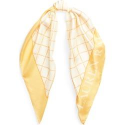 Ralph Lauren Dalia Silk Twill Square Scarf in Cream - Size One Size found on Bargain Bro Philippines from Ralph Lauren for $88.00