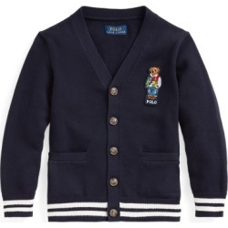 Ralph Lauren Polo Bear Cotton Cardigan in RL Navy - Size 4T found on Bargain Bro from Ralph Lauren for USD $50.91