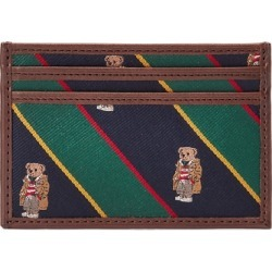 Ralph Lauren Polo Bear Silk-Trimmed Leather Card Case in Navy/Green/Yellow/Red - Size One Size found on Bargain Bro from Ralph Lauren for USD $95.00