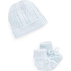 Ralph Lauren Aran-Knit Hat & Booties Set in Beryl Blue - Size 6-9M found on Bargain Bro India from Ralph Lauren for $65.00