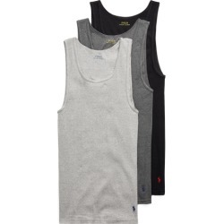 Ralph Lauren Classic Tank 3-Pack in Black, Dark Grey, Grey - Size XL found on Bargain Bro from Ralph Lauren for USD $32.30