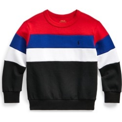 Ralph Lauren Color-Blocked Double-Knit Sweatshirt in RL 2000 Red Multi - Size 7 found on Bargain Bro from Ralph Lauren for USD $22.03