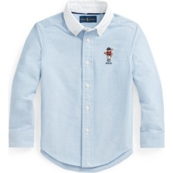 Ralph Lauren Polo Bear Cotton Oxford Shirt in Bsr Blue - Size 7 found on Bargain Bro from Ralph Lauren for USD $26.59