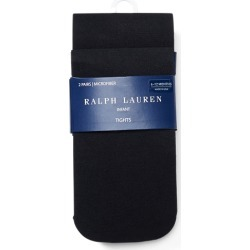 Ralph Lauren Microfiber Tights 2-Pack in Black - Size 6-12M found on Bargain Bro India from Ralph Lauren for $16.00
