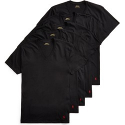 Ralph Lauren Classic Cotton V-Neck 5-Pack in Black/Red - Size S found on Bargain Bro from Ralph Lauren for USD $45.22