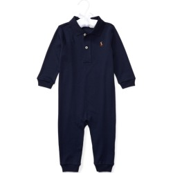 Ralph Lauren Cotton Interlock Polo Coverall in French Navy - Size 6M found on Bargain Bro from Ralph Lauren for USD $30.02