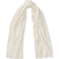 Ralph Lauren Cable Cashmere Scarf in Cream - Size One Size found on Bargain Bro Philippines from Ralph Lauren for $395.00