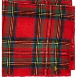 Ralph Lauren Tartan Wool Pocket Square in Red Multi - Size One Size found on Bargain Bro from Ralph Lauren for USD $72.20