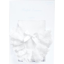 Ralph Lauren Ruffled Cotton-Blend Tights in White - Size 0-6M found on Bargain Bro Philippines from Ralph Lauren for $57.00