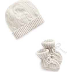 Ralph Lauren Cashmere Hat & Booties Set in Light Grey Heather - Size 0-3M found on Bargain Bro Philippines from Ralph Lauren for $95.00