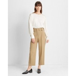 Club Monaco New Tan Self-Buckle Pant in Size 10 found on Bargain Bro India from Club Monaco for $95.99