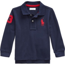 Ralph Lauren Piqué Long-Sleeve Polo Shirt in French Navy - Size 18M found on Bargain Bro India from Ralph Lauren for $17.99