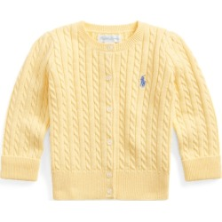 Ralph Lauren Cable-Knit Cotton Cardigan in Butter Cream - Size 6M found on Bargain Bro Philippines from Ralph Lauren for $35.00