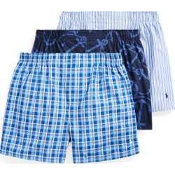 Ralph Lauren Classic Boxer 3-Pack in Plaid/Anchor Print/Stripe - Size L found on Bargain Bro from Ralph Lauren for USD $32.30