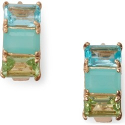 Ralph Lauren Gold-Tone Stone Huggie Earrings in Gold/Blue - Size One Size found on Bargain Bro from Ralph Lauren for USD $21.28