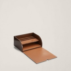 Ralph Lauren Brennan Leather Writer's Box in Saddle - Size One Size found on Bargain Bro Philippines from Ralph Lauren for $395.00
