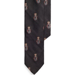 Ralph Lauren Polo Bear Silk Narrow Tie in Black - Size One Size found on Bargain Bro Philippines from Ralph Lauren for $148.00