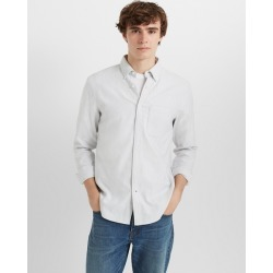 Club Monaco Grey And White Slim Jaspé Shirt in Size S found on Bargain Bro India from Club Monaco for $46.99