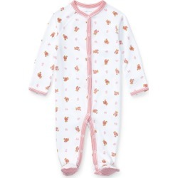 Ralph Lauren Polo Bear Cotton Footed Coverall in White Multi - Size 3M found on Bargain Bro from Ralph Lauren for USD $24.70