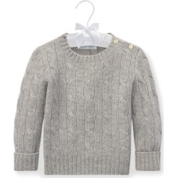 Ralph Lauren Cable-Knit Cashmere Sweater in Light Grey Heather - Size 9-12M found on Bargain Bro from Ralph Lauren for USD $148.20