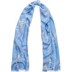 Ralph Lauren Vera Equestrian Scarf in Cabana Blue - Size One Size found on Bargain Bro Philippines from Ralph Lauren for $58.00