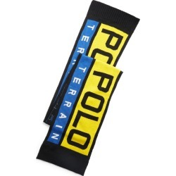 Ralph Lauren Polo Terrain Scarf in Black/Yellow/Royal - Size One Size