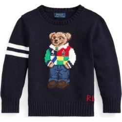 Ralph Lauren Polo Bear Cotton Sweater in RL Navy - Size 3T found on Bargain Bro from Ralph Lauren for USD $91.19