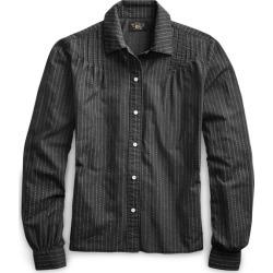 Ralph Lauren Cotton Blouse in Rl-150 Sulphur Black/Crea - Size 1