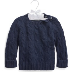 Ralph Lauren Cable-Knit Cashmere Sweater in French Navy - Size 18-24M found on Bargain Bro from Ralph Lauren for USD $148.20