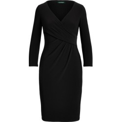 Ralph Lauren Wrap-Front Jersey Dress in Black found on Bargain Bro India from Ralph Lauren for $109.00