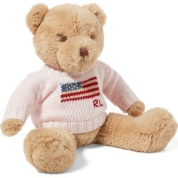Ralph Lauren Small Flag-Sweater Polo Bear in French Pink - Size One Size found on Bargain Bro Philippines from Ralph Lauren for $65.00