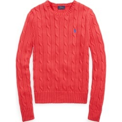 Ralph Lauren Cable-Knit Cotton Sweater in Coral - Size XL found on Bargain Bro from Ralph Lauren for USD $97.28