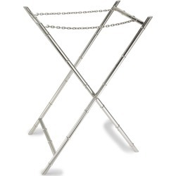 Ralph Lauren Edmond Bamboo Tray Stand in Silver - Size One Size
