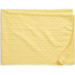 Ralph Lauren Cashmere Baby Blanket in Beekman Yellow - Size One Size found on Bargain Bro from Ralph Lauren for USD $224.20