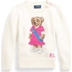 Ralph Lauren Polo Bear Cotton Sweater in Clubhouse Cream - Size 5 found on Bargain Bro from Ralph Lauren for USD $88.15