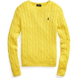 Ralph Lauren Cable-Knit Cotton Sweater in Elite Yellow - Size XL found on Bargain Bro from Ralph Lauren for USD $97.28
