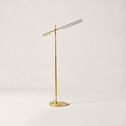 Ralph Lauren Daley Adjustable Floor Lamp in Natural Brass - Size One Size found on Bargain Bro from Ralph Lauren for USD $1,899.24