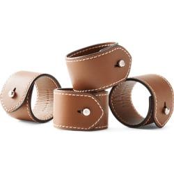Ralph Lauren Wyatt Napkin Rings in Saddle - Size One Size
